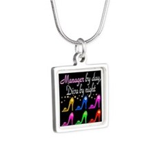 MANAGER DIVA Silver Square Necklace