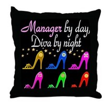 MANAGER DIVA Throw Pillow
