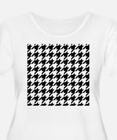 Houndstooth Black and White Classic Pattern Plus S
