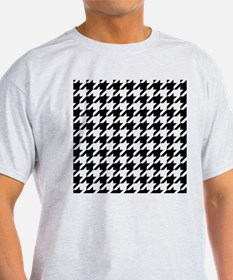 Houndstooth Black and White Classic Pattern T-Shir