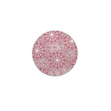 Pink Lace Mini Button