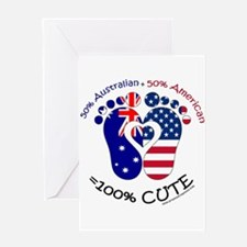 Australian American Baby Greeting Cards