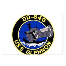 DD-840 USS GLENNON Destro Postcards (Package of 8)