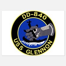 DD-840 USS GLENNON Destroyer Ship Mili Invitations
