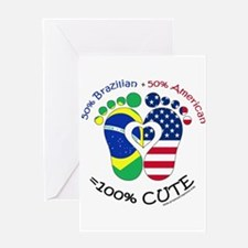Brazilian American Baby Greeting Cards