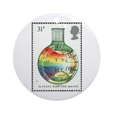 Sir Isaac Newton Christmas Tree Ornament (Round)