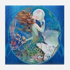 Clive Pearl Mermaid Tile Coaster