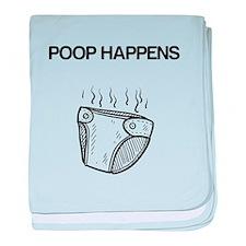 Poop Happens Baby Blanket