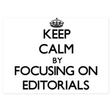 Keep Calm by focusing on EDITORIALS Invitations