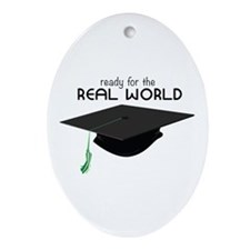 The Real World Ornament (Oval)