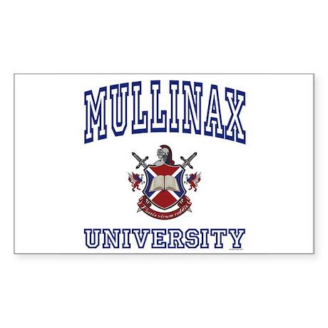 MULLINAX University Rectangle Sticker