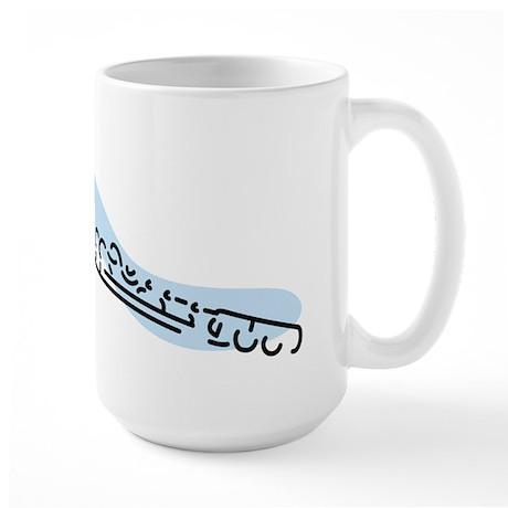 Flute Large Mug (Blue)