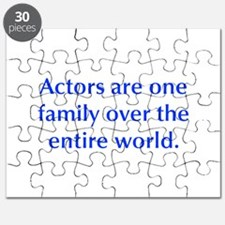Actors are one family over the entire world Puzzle