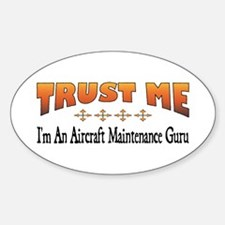Trust Aircraft Maintenance Guru Oval Decal