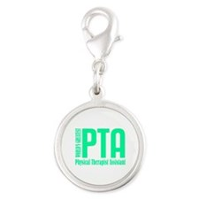 Physical Therapist Assistant Silver Round Charm