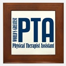 Physical Therapist Assistant Framed Tile