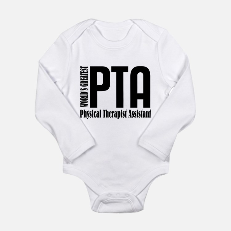 Physical Therapist Ass Long Sleeve Infant Bodysuit