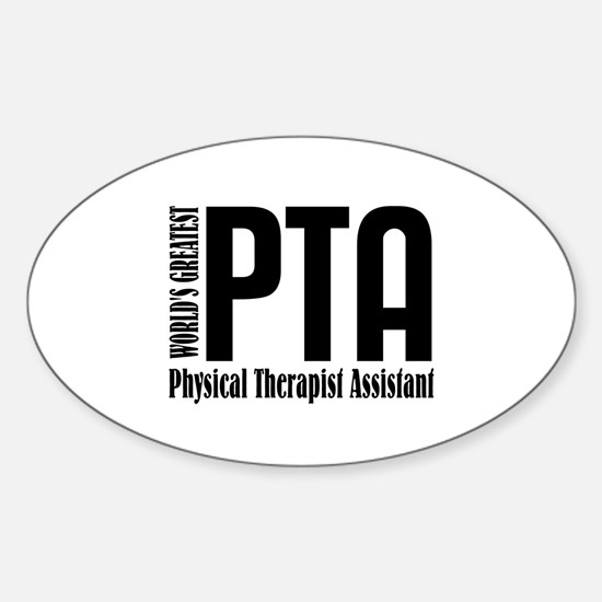 Physical Therapist Assistant Sticker (Oval)