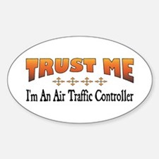 Trust Air Traffic Controller Oval Decal