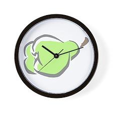 green Pear Wall Clock