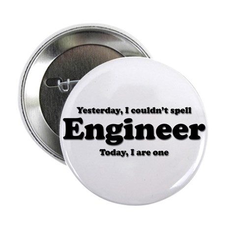"""Can't spell Engineer 2.25"""" Button (100 pack)"""