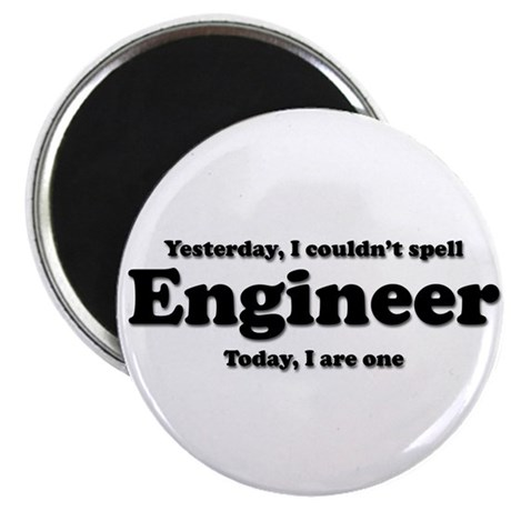 """Can't spell Engineer 2.25"""" Magnet (10 pack)"""