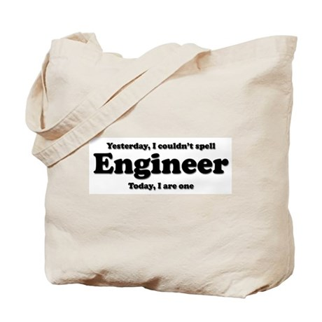 Can't spell Engineer Tote Bag