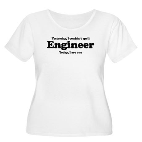 Can't spell Engineer Women's Plus Size Scoop Neck