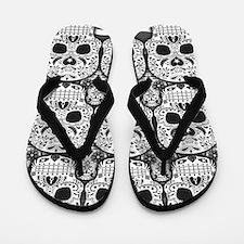 Sugar Skulls Flip Flops