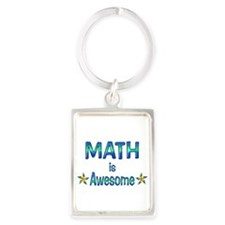 Math is Awesome Portrait Keychain