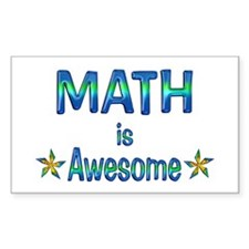 Math is Awesome Decal