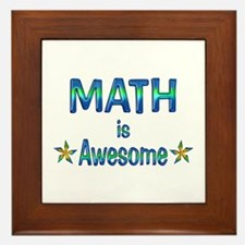Math is Awesome Framed Tile