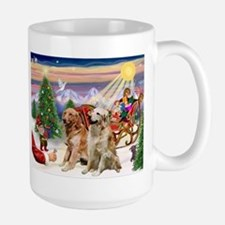 Santa's Treats for his Two Goldens Mug