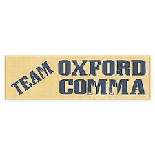 Team Oxford Comma Bumper Sticker