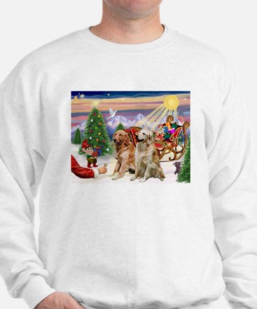 Santa's Treats for His Two Goldens Sweatshirt