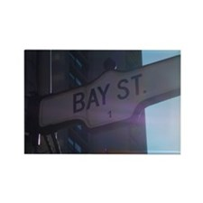 Toronto's Bay Street Rectangle Magnet
