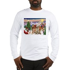 Santa's Treats for Two Goldens Long Sleeve T-Shirt