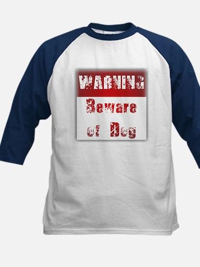 Warning: Beware of Dog Kids Baseball Jersey