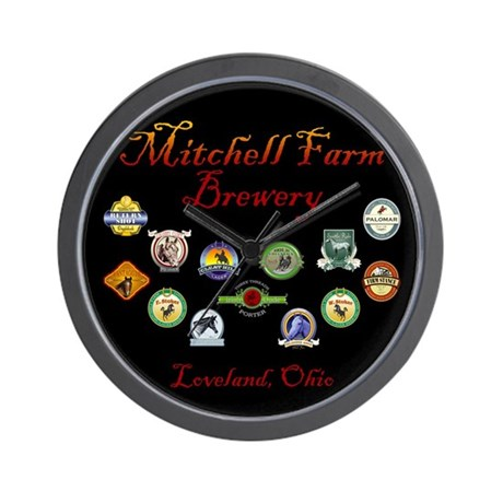 Mitchel Farm Brewery Gear Wall Clock