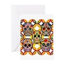 Sugar Skulls Greeting Cards