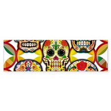 Sugar Skulls Bumper Bumper Sticker