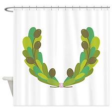 Olive Wreath Shower Curtain