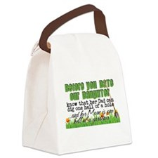 Date Our Daughter Canvas Lunch Bag