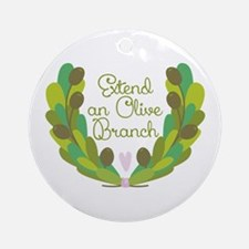 Extend an Olive Branch Ornament (Round)