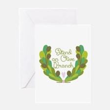 Extend an Olive Branch Greeting Cards