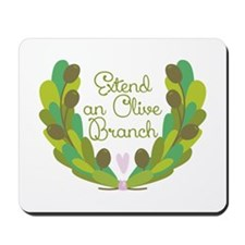 Extend an Olive Branch Mousepad
