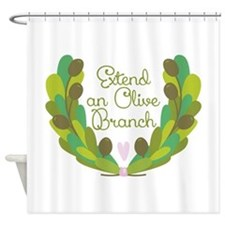 Extend an Olive Branch Shower Curtain