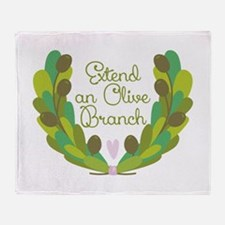 Extend an Olive Branch Throw Blanket
