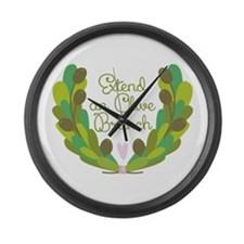 Extend an Olive Branch Large Wall Clock