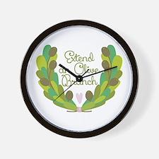 Extend an Olive Branch Wall Clock